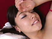 Divine Japanese Babe Gets Her Bushy Twat Tickled With Vibrator