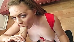 Luscious-breasted Redhead Young Katy Karson Blows A Cock