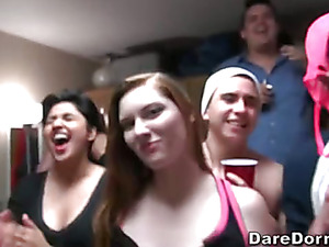 Hot College 18 Year Olds Get Plowed At A Dorm Party