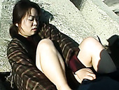 Japanese MILF Fondles Her Cherry Upskirt In Amateur Video